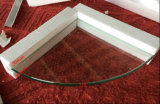 6mm Raum-Ecken-Regal-abgeschrägtes Polierrand-Hartglas
