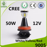 12V indicatore luminoso dell'automobile dell'indicatore luminoso di nebbia del CREE 50W LED