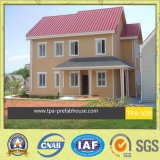 贅沢な2階建ての軽い鋼鉄別荘の家