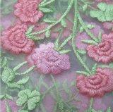 Heißer verkaufender neuer Entwurf sticken Blumen-Spitze-Gewebe