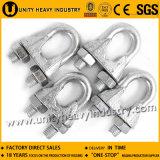 Le grand approvisionnement DIN 741 a galvanisé le clip malléable de câble métallique
