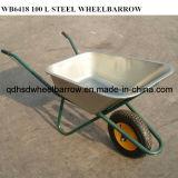 100 L Wasser-Kapazitäts-Rad-Eber mit Stahlschubkarre des tellersegment-Wb6418