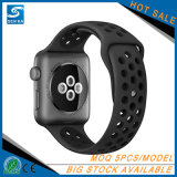 Großhandelssport-Silikon-Armbanduhr-Band-Brücke für Apple-Uhr