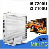 Le faisceau sans ventilateur I5 7200u du VGA HDMI de mini PC d'Intel HD 620 d'ordinateur de bureau du mini-PC 4k HTPC amincissent le PC