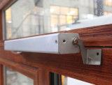Guichet en aluminium de tissu pour rideaux de ceintures de double de profil d'interruption thermique colorée en bois avec le blocage multi K03035