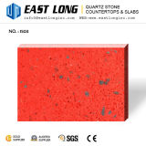 Brasil personalizou lajes de pedra Sparkling coloridas Homedecoration/bancadas/partes superiores de quartzo da vaidade