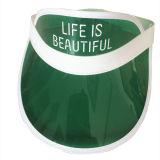 Chapeau transparent de pare-soleil de PVC Sun de couleur pourprée faite sur commande
