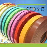 Altas bandas de borde de madera brillantes del PVC del color del grano del color sólido