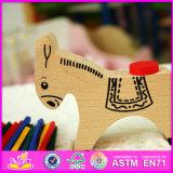 Jouet en bois W01b028 d'âne de bébé neuf du modèle 2016