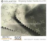 Tela de nylon del telar jacquar de la insignia para abajo la guarnición de la chaqueta/de la capa
