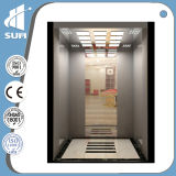 Pasajero Elevator de Golden Color Etching Mirror Stainless