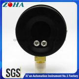 Indicateur de pression normal de caisse en acier noire de l'exactitude 1.0% avec le connecteur en laiton