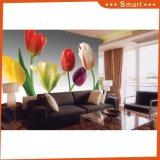 Цветок обоев полной величины дизайна интерьера для домашней картины маслом украшения