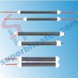 Des éléments de chauffe infrarouges de quartz de chaufferette de quartz sont employés et préférés dans des applications industrielles
