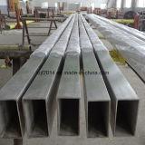 Pipe rectangulaire d'acier inoxydable (SMLS) ou carrée sans joint