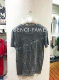 Le T-shirt d'impression de Geo de teinture de relation étroite blanche dans le sport de l'homme vêtx Fw-8654