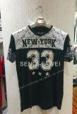 2017の方法人の黒い花柄細い適合のTシャツはFw8605に着せる