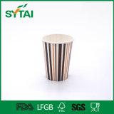Tazas de café de papel de un sólo recinto modificadas para requisitos particulares del diseño lindo de la insignia de la compañía
