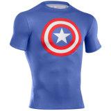 Изготовленный на заказ рубашки тренировки гимнастики сублимировали предохранители спешкы Lycra