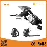 再充電可能なLEDのバイクライトは-ヘッドライトのテールライトの組合せLEDの自転車ライトをセットされてセットした(650mAhリチウム電池)