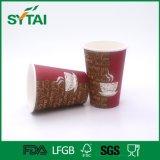 Único copo de papel descartável de parede para a bebida quente