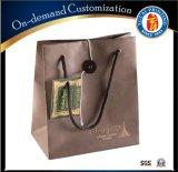 カスタムロゴの印刷のクラフト紙袋