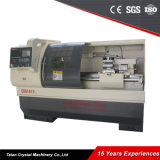 máquina econômica Ck6140A do torno do CNC da base lisa do balanço de 400mm