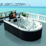 정원을%s 7 색깔 LED Irregular Large Hot Tub SPA