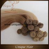 Самая лучшая продавая связанная рука бразильских волос Weft