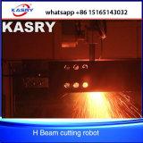 El acero perfila la máquina que hace frente del corte automático del plasma de la viga de H