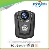 2つの充電電池が付いている64G 1296p HDの夜間視界防水IP67 Wildeの角度の警察のボディによって身に着けられているカメラ