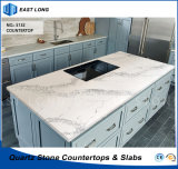 Kunstmatige Stone Quartz Countertop voor Home Decoration met SGS Standards (kleuren Marble)
