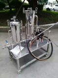 Промышленной подгонянный нержавеющей сталью корпус фильтра мешка с вачуумным насосом