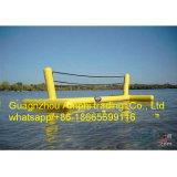 0.9mm Belüftung-Plane-Volleyball-Wasser-Spiele/aufblasbarer Strand-Wasser-Volleyball-Bereich