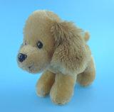 Cão de brinquedo animal ereto do luxuoso