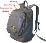 Зеленый Backpack компьтер-книжки продукта энергии с заряжателем панели солнечных батарей для iPad etc. 44