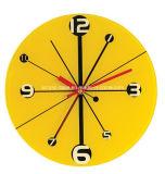 Horloge de mur acrylique colorée d'horloge