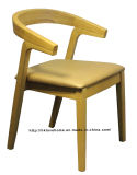 Réplica restaurante de cena del café muebles de tela Sillas de madera