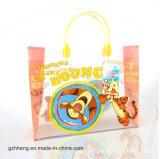 Подгонянный мешок подарка печатание шаржа выдвиженческий пластичный (мешки PVC)