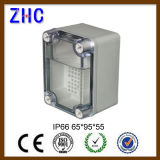 240*160*120 openlucht ElektroABS van de Dekking van de Doos van de Kabel Duidelijke Plastic Waterdichte IP66 Kabeldoos