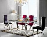 椅子を食事する紫色の最高背部ステンレス鋼のフィート