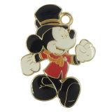 Étiquette de coup de charmes de souris de Micky en métal
