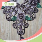 Weinlese Lovely Flower Figures Gray und Green 3D Colar Lace