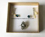Rectángulo de joyería de papel de lujo para el anillo, pendiente, collar, Bangle.