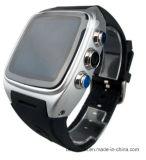 X01スマートな腕時計Mtk6572はコア1.54 「スクリーン512 MBのRAM 4 GB SIMのカードのアンドロイド4.4のBluetooth 3G WiFiのカメラGPS Pk Zgpax S8二倍になる