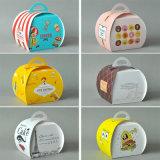 명확한 플라스틱 PVC Windows를 가진 컵케이크 또는 케이크 상자 컵케이크 상자를 위한 주문을 받아서 만들어진 로고에 의하여 인쇄되는 6/4paper 상자