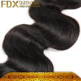 사람의 모발 도매 자연적인 까만 인도 머리 (FDX-TJ-IB41)