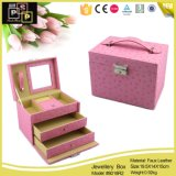 Custom Red Color PU Leather Drawer Jewelry Storage (8018)