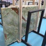 緑のオニックスの平板の磨かれたイランの大理石