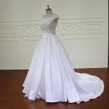 Satin &#160 développé par mariage de robe de mariage ; Broderie perlant la robe nuptiale